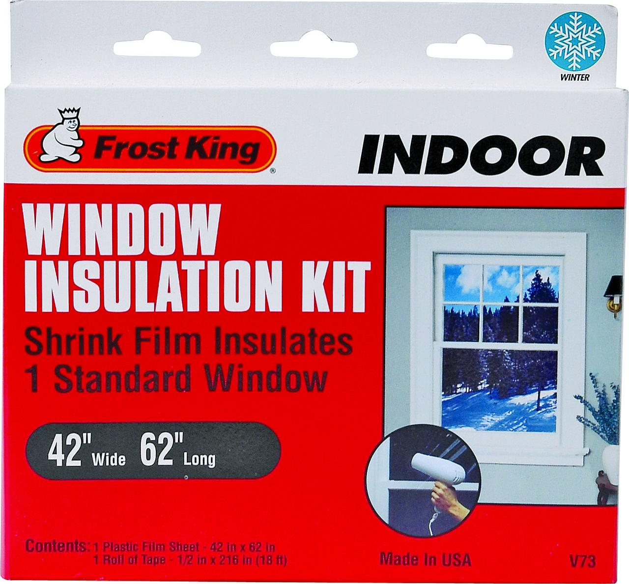 Frost King V73H Indoor Shrink Window Insulation Kit 42 X 62 in