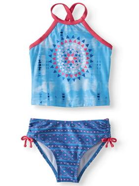 72b7e322be971 Product Image Diamond Print Tankini Swimsuit (Little Girls)