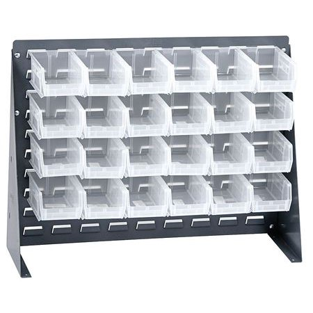 Louvered Storage Bins (QUANTUM STORAGE SYSTEMS QBR-2721-220-24CL Louvered Bench Rack, 27 x 8 x 21 In,)