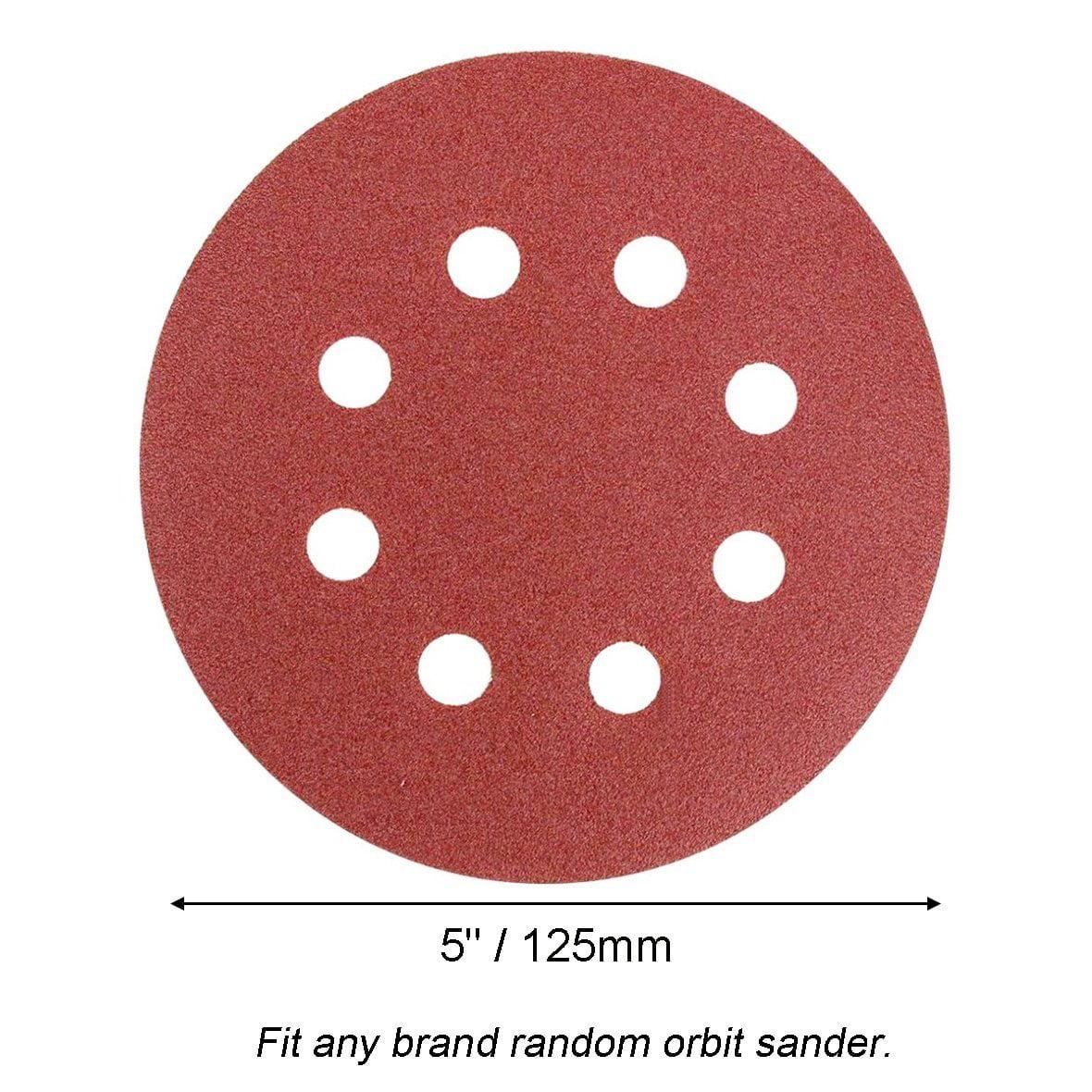5 125mm 8 Holes Sanding Discs Sandpaper 240//400//600//800//1000//1200//1500//2000#