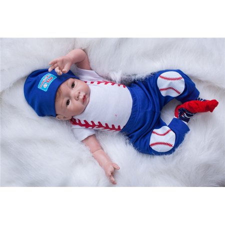 NPK Collection Reborn Baby Doll Soft Silicone 21inch 52cm Magnetic Lovely Lifelike Cute Lovely Baby Sleeping doll