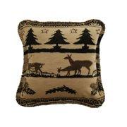 Denali Throws Deer Haven Throw Pillow