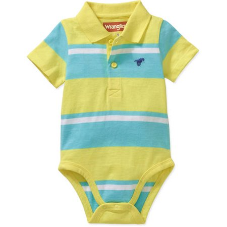 Wrangler Newborn Baby Boys' Knit Polo Bodysuit