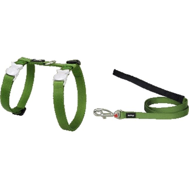 Red Dingo CH-ZZ-GR-SM Cat Harness & Lead Combo Classic Green
