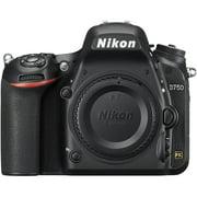 Nikon D750 24.3MP HD 1080p FX-Format Digital SLR Camera (Body)(Certified Refurbished)