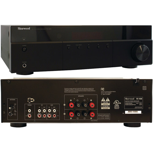 Sherwood RX-4508 200-Watt AM FM Stereo Receiver with Bluetooth by Sherwood