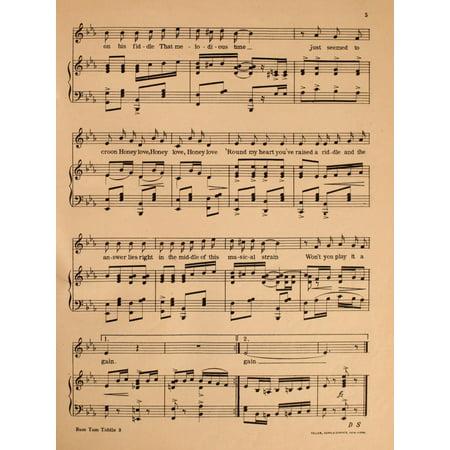 Madden & Schwartz Sheet Music 1907 Rum Tum Tiddle 3 Stretched Canvas - Madden & Schwartz (18 x 24) (Iron Maiden Sheet Music)