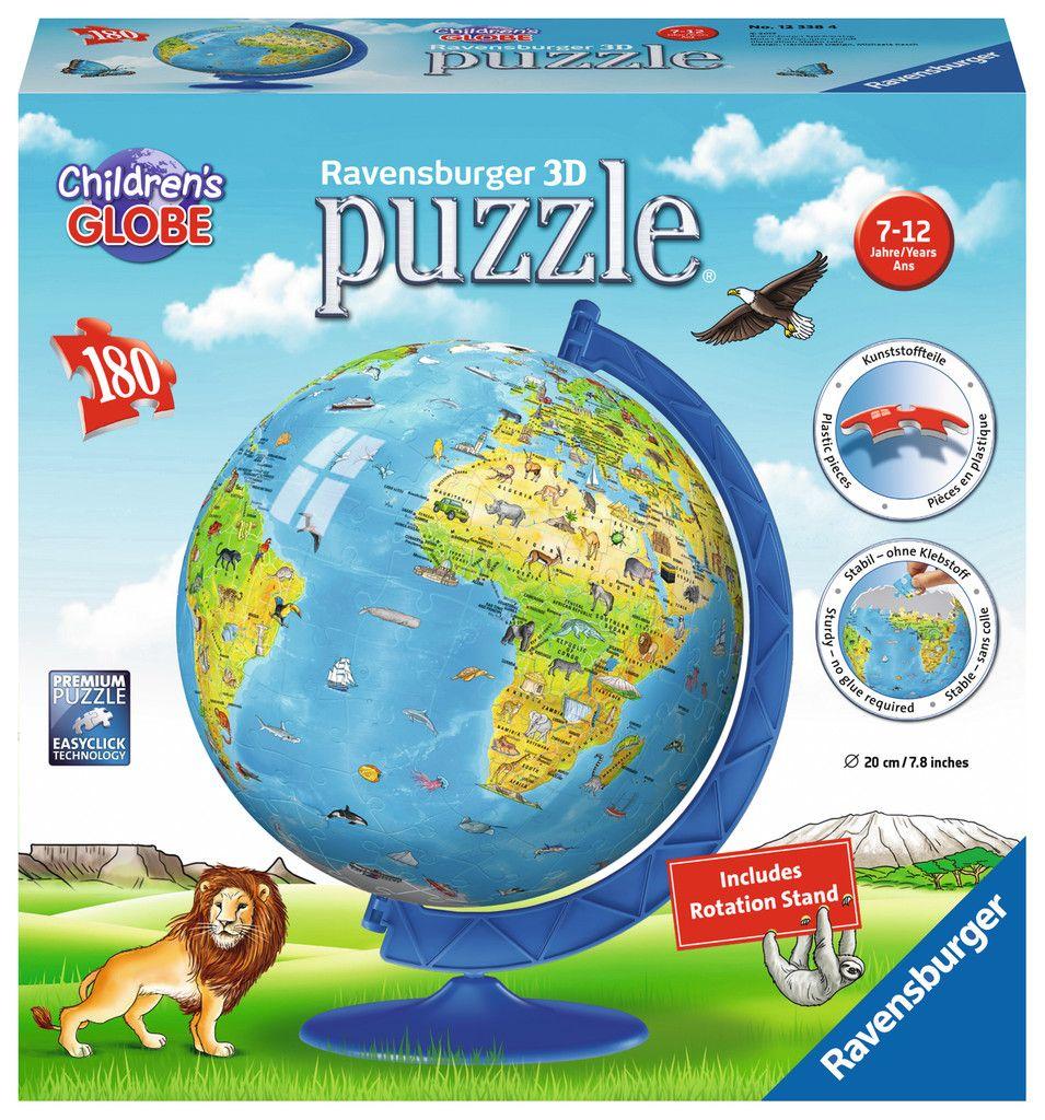 Ravensburger Children's 3D World Globe Puzzle: 180 Pcs by Ravensburger