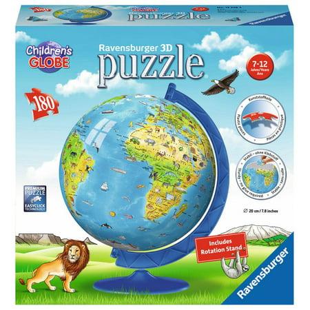 Ravensburger Children's 3D World Globe Puzzle: 180 Pcs