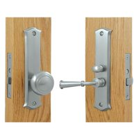 Solid Brass Classic Storm Door Latch w Mortise Lock (Chrome)