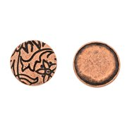 Nunn Design Antiqued Copper Plated Round Pendant Tag 12.5mm (2)