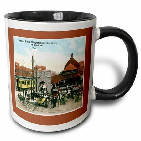 3dRose Passenger Station, Chicago Northwestern Railway, Des Moines Iowa Coffee Mug
