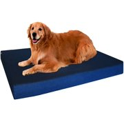 "Extra Large Orthopedic Waterproof Memory Foam Dog Bed for Medium to Large Pet 47""X29""X4"", Denim Blue Washable Cover"