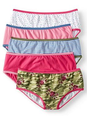 Wonder Nation Girls Underwear, 5 Pack Hipster Panties (Little Girls & Big Girls)