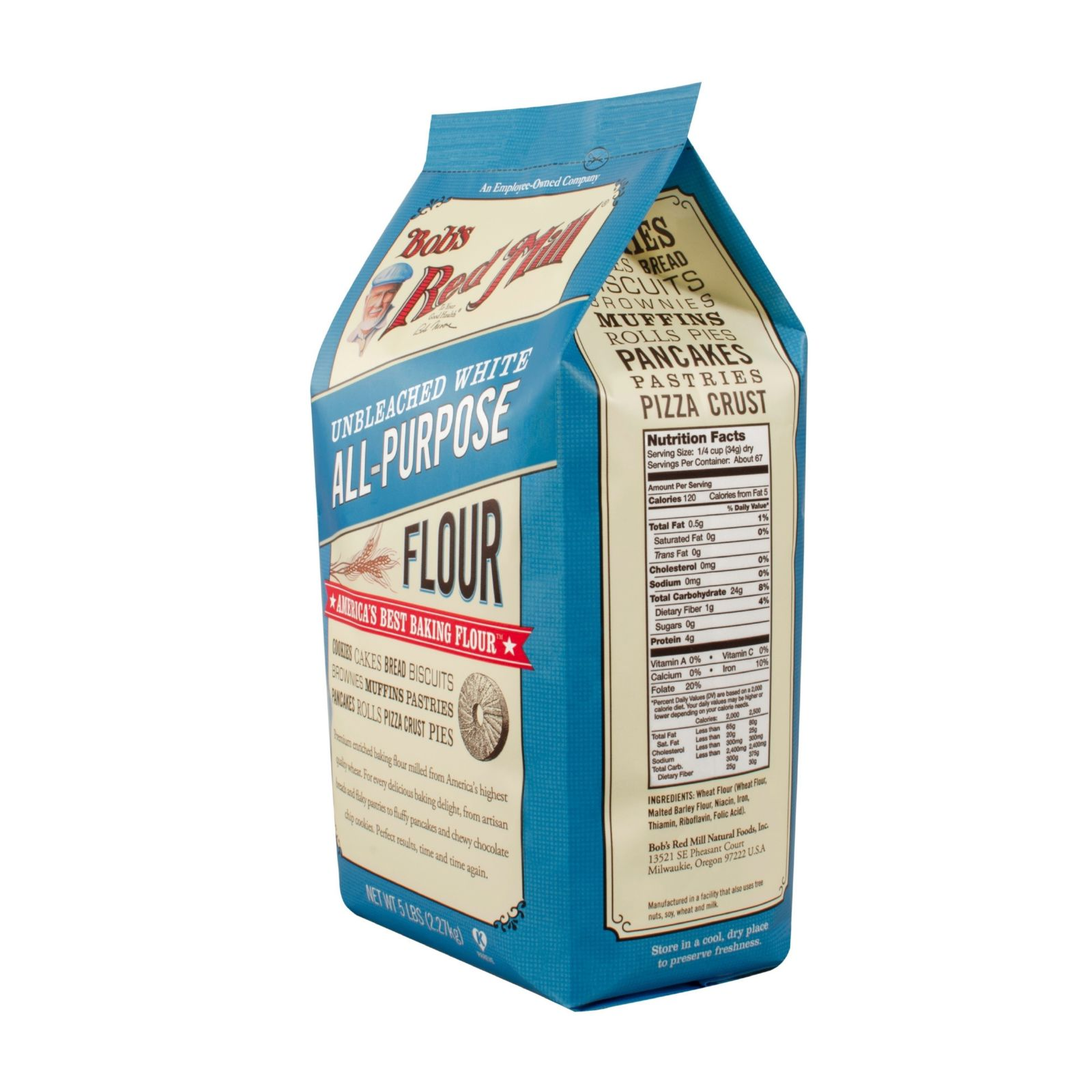 Bob's Red Mill Unbleached White All-Purpose Flour, 80 oz