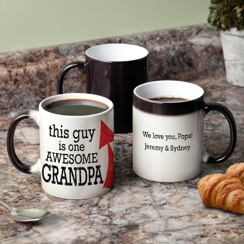 Personalized Awesome Grandpa 11 oz Color Changing Coffee Mug