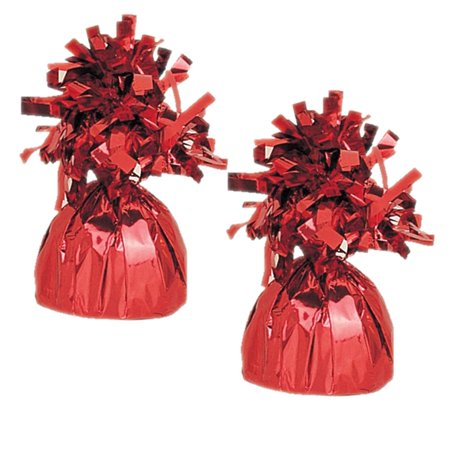 Foil Balloon Weight, Red, 2-Pack (2 Weights) ()