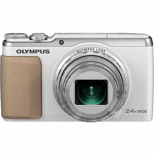 Olympus Stylus SH-50 iHS Digital Camera with 24x Optical Zoom and 3-Inch LCD (White)