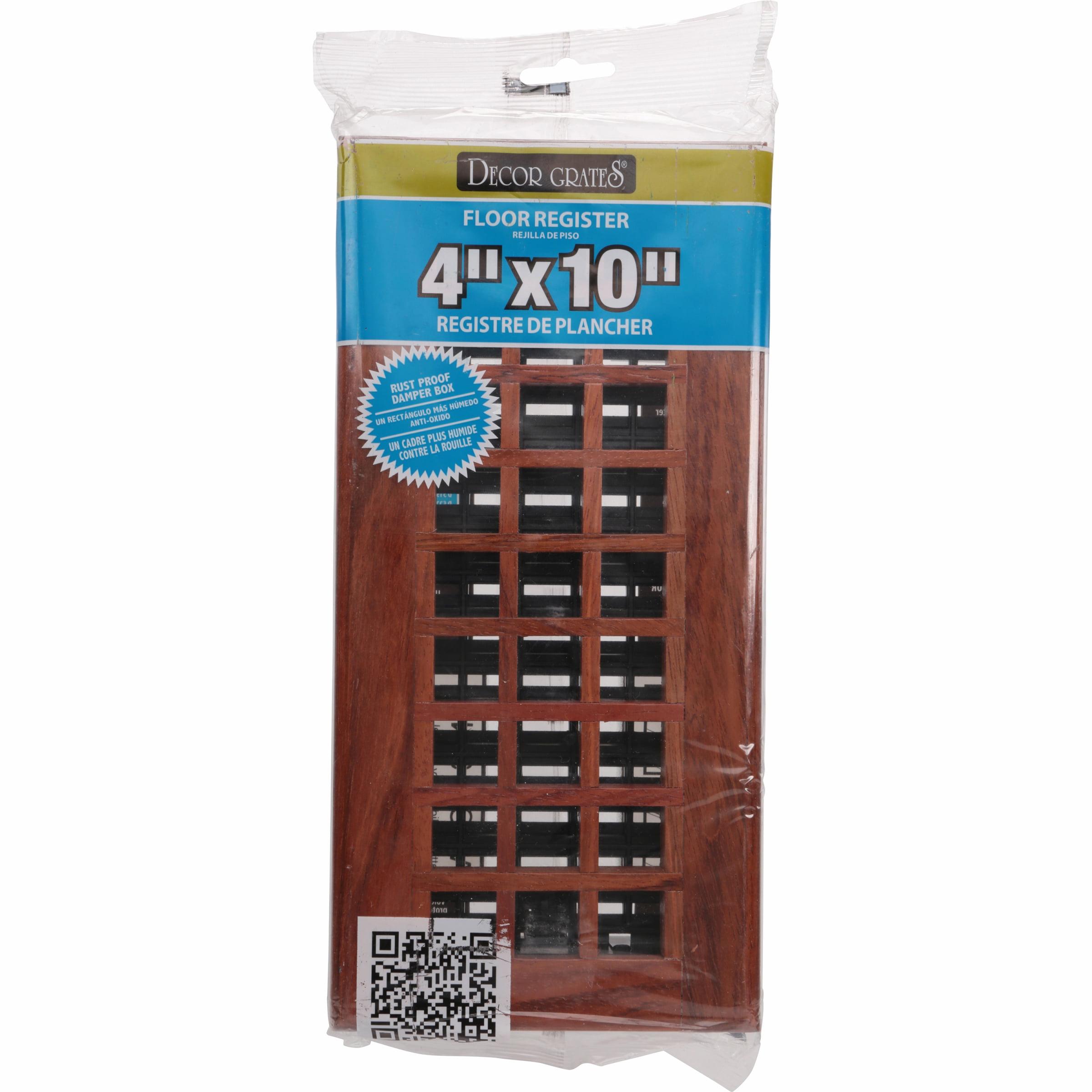 Decor Grates® Lattice Wood Floor Register
