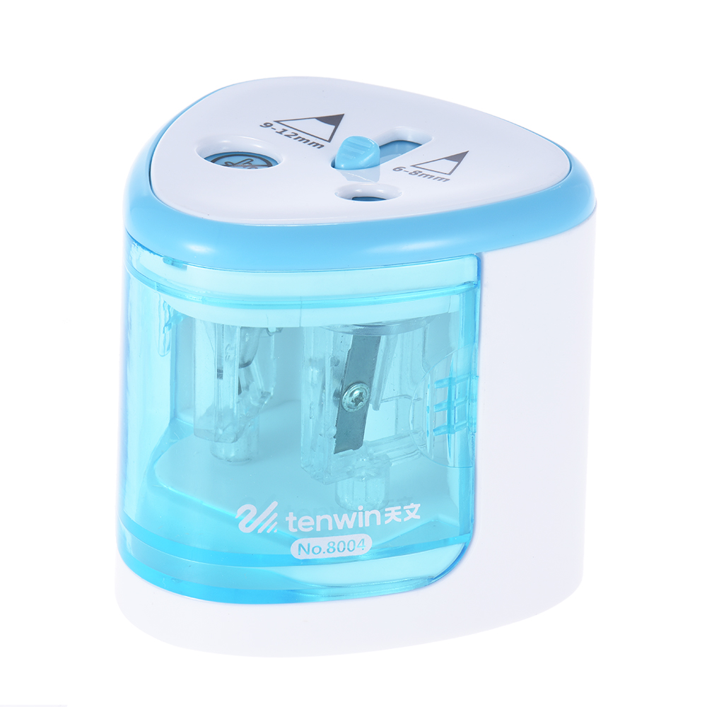 tenwin Electric Pencil Sharpener Battery Operated For 6-8mm Colored Pencils H4D0