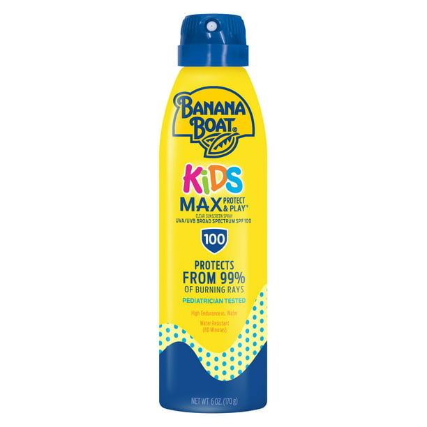Banana Boat Kids Max Protect & Play Sunscreen C-spray SPF 100, 6 oz
