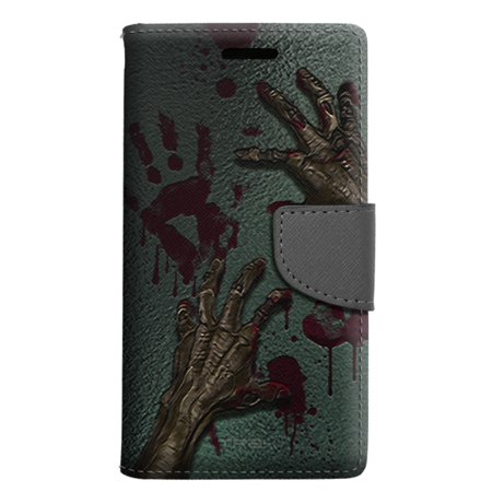 Alcatel Pop 4 Wallet Case - Zombie Hands Case