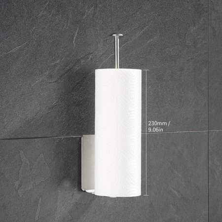 Kitchen Paper Towel Rack Wall Mount Vertical Paper Towel Holder for Kitchen Dispenser Rack for Tissue Roll - image 4 of 7