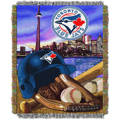 "MLB 48"" x 60"" Home Field Advantage Series Tapestry Throw, Blue Jays"