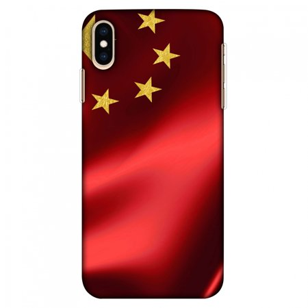 Cafe China - iPhone Xs Max Case, Ultra Slim Case iPhone Xs Max Handcrafted Printed Hard Shell Back Protective Cover Designer iPhone Xs Max Case (2018) - China flag- Silk land