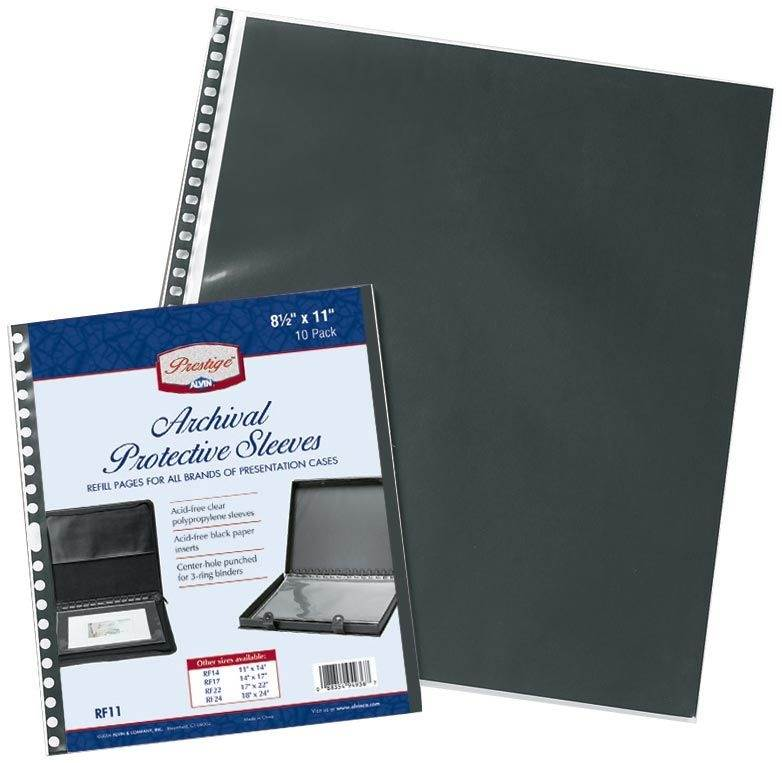 Alvin and Co. Archival Protective Sleeve Refill Pages (Set of 5)