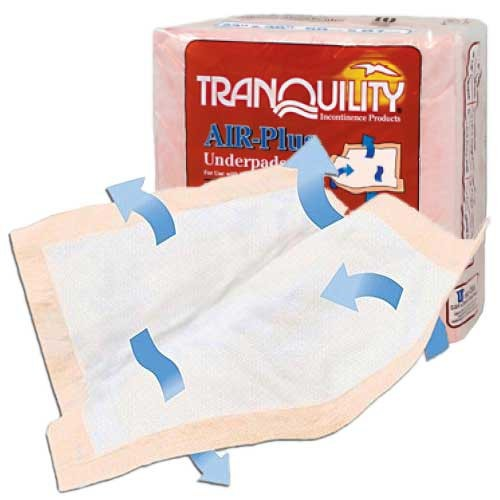 "Tranquility,Air Plus,Underpad,30"" x 36 - Case of 40"