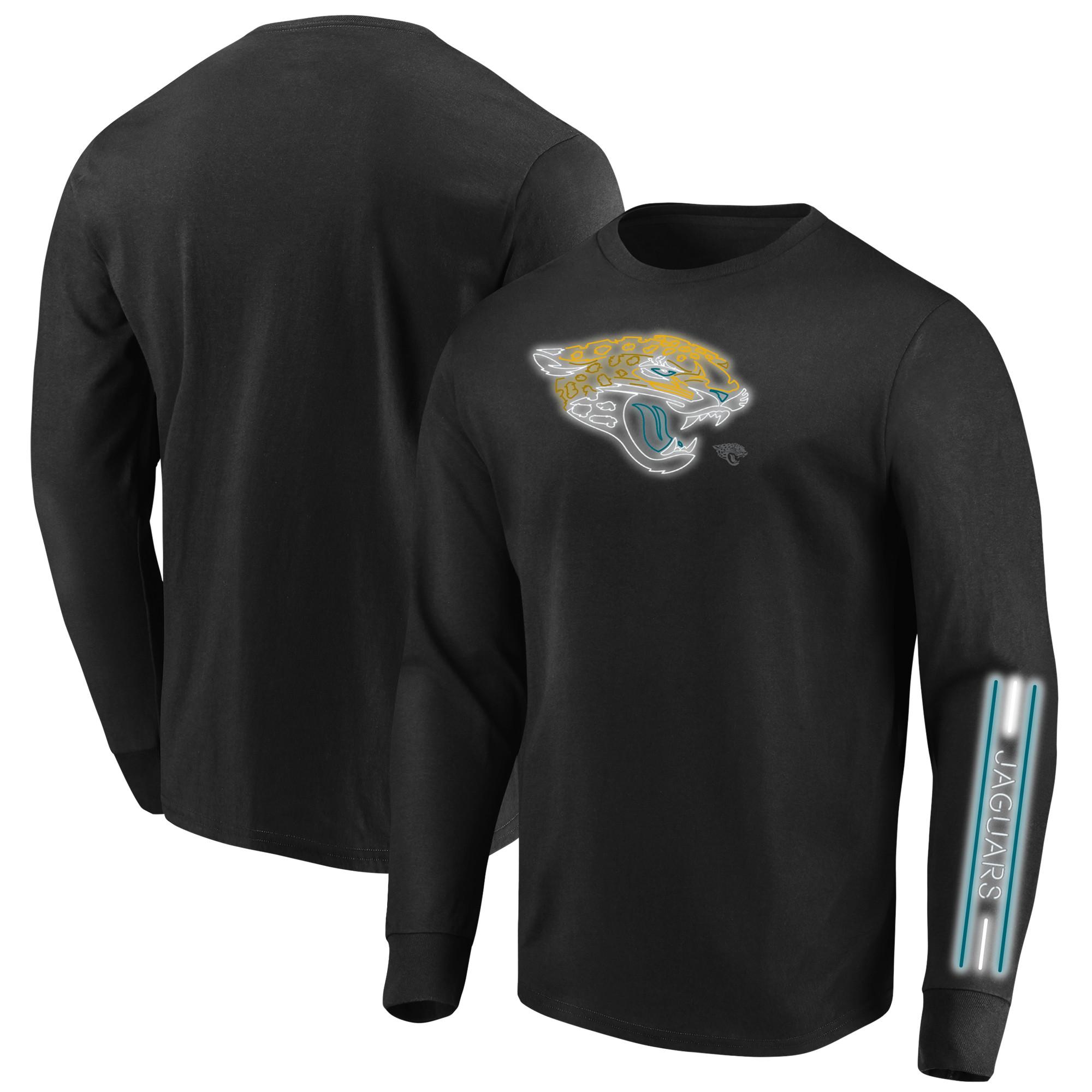 Jacksonville Jaguars Majestic Big & Tall Startling Success Long Sleeve T-Shirt - Black