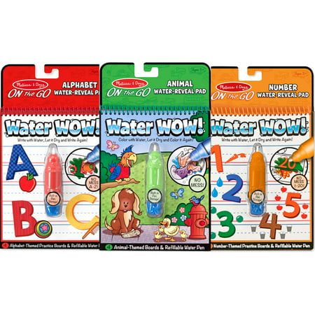 Melissa & Doug On the Go Water Wow! 3-Pack (The Original Reusable Coloring  Books - Animals, Alphabet, Numbers - Great Gift for Girls and Boys - Best  ...