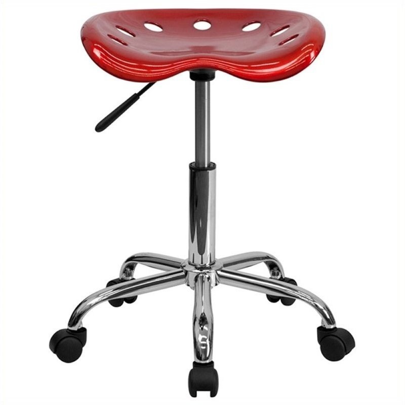 Scranton & Co Adjustable Bar Stool and Tractor Seat in Wine Red