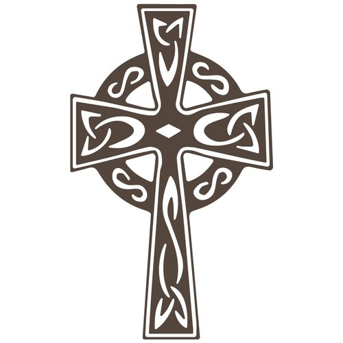 The Decal Guru Celtic Cross Wall Decal