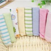 Jeobest 8PCS Single Small Square Soft Cute Baby Towel Handkerchief for Infant Kid Children Feeding Bathing Face Washing Towel MZ(color random)