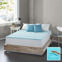 """Spa Sensations Zoned Fusion Gel Memory Foam 1"""" Mattress Topper; Available in multiple sizes"""