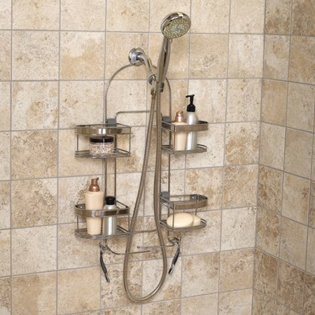 Zenith Expandable Over-the-Shower Caddy, Stainless Steel - Walmart.com