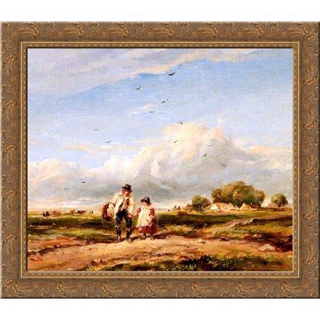 The Wayfarers 24x20 Gold Ornate Wood Framed Canvas Art by David (Wood Wayfarer)