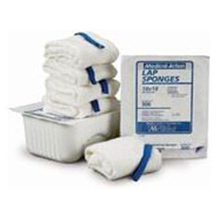 """WP000-300 300 Sponge X-Ray Detectable LAP St Pre-washed 18x18"""" 5/Tr 100 Per Case # 300 From Medical Action Industries"""