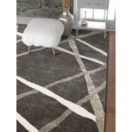 Well Woven Traverse Stripes Grey Geometric Modern Lines