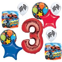 Blaze and the Monster Machines Party Supplies 3rd Birthday Balloon Bouquet Decorations