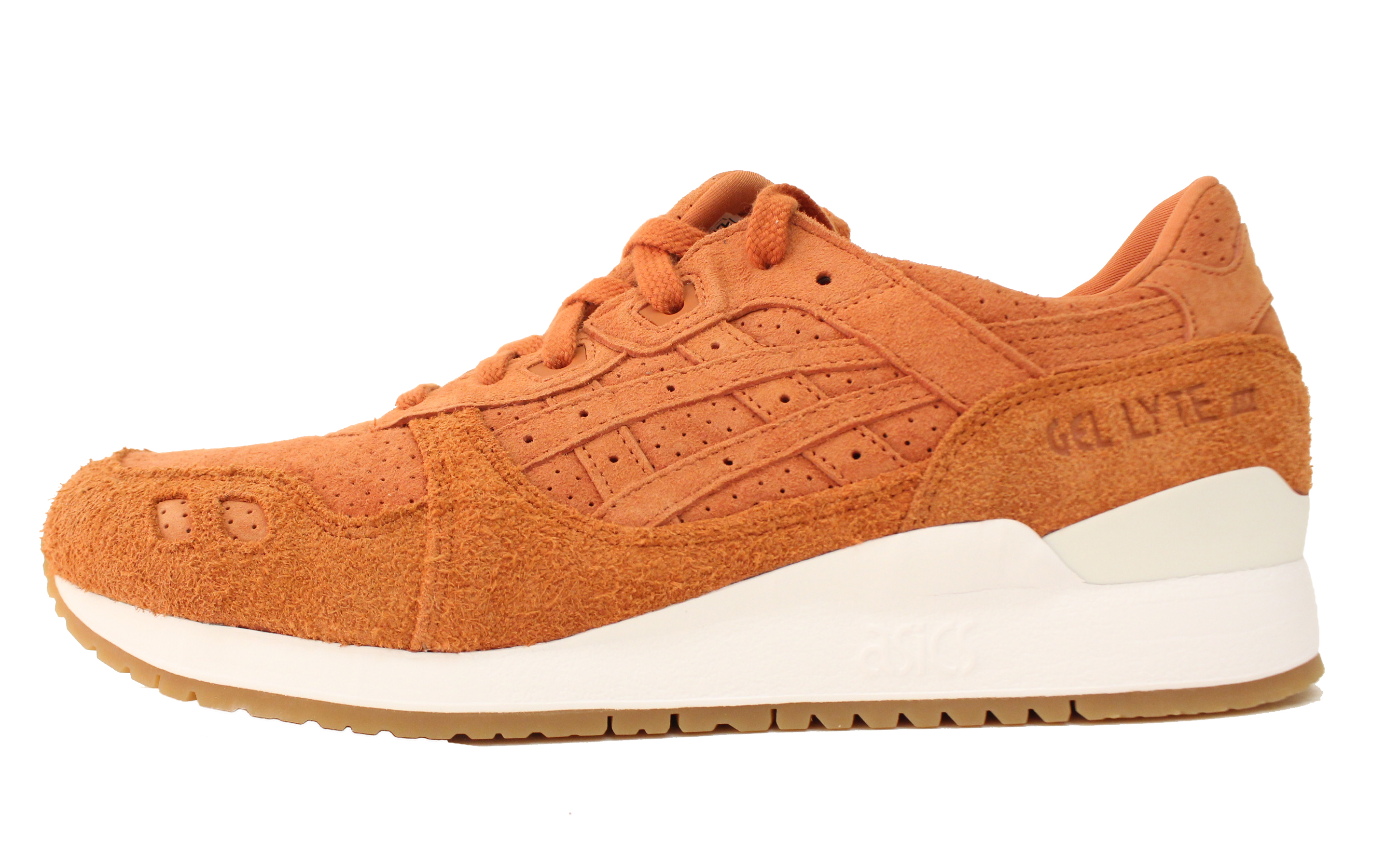 ASICS GEL LYTE III 3 SZ 9 SPICE ROUTE ORANGE WHITE GUM BROWN SUEDE HL7X3.3030