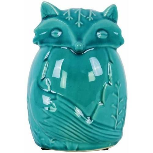 Urban Trends Collection: Ceramic Fox Figurine, Gloss Finish, White