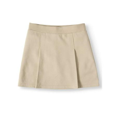 Stretch Ponte Knit Skirt (Wonder Nation Girls School Uniform Stretch Ponte Knit)
