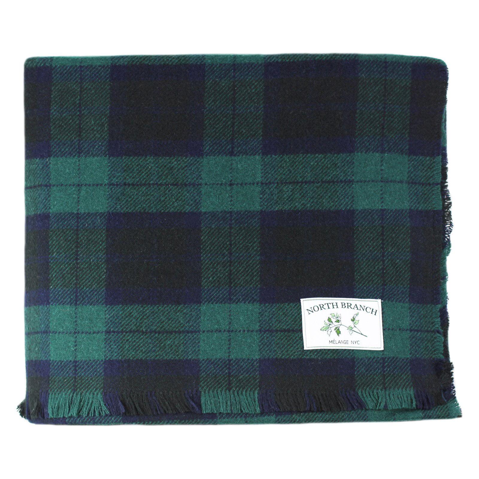 Melange Home Black Watch Wool Blanket