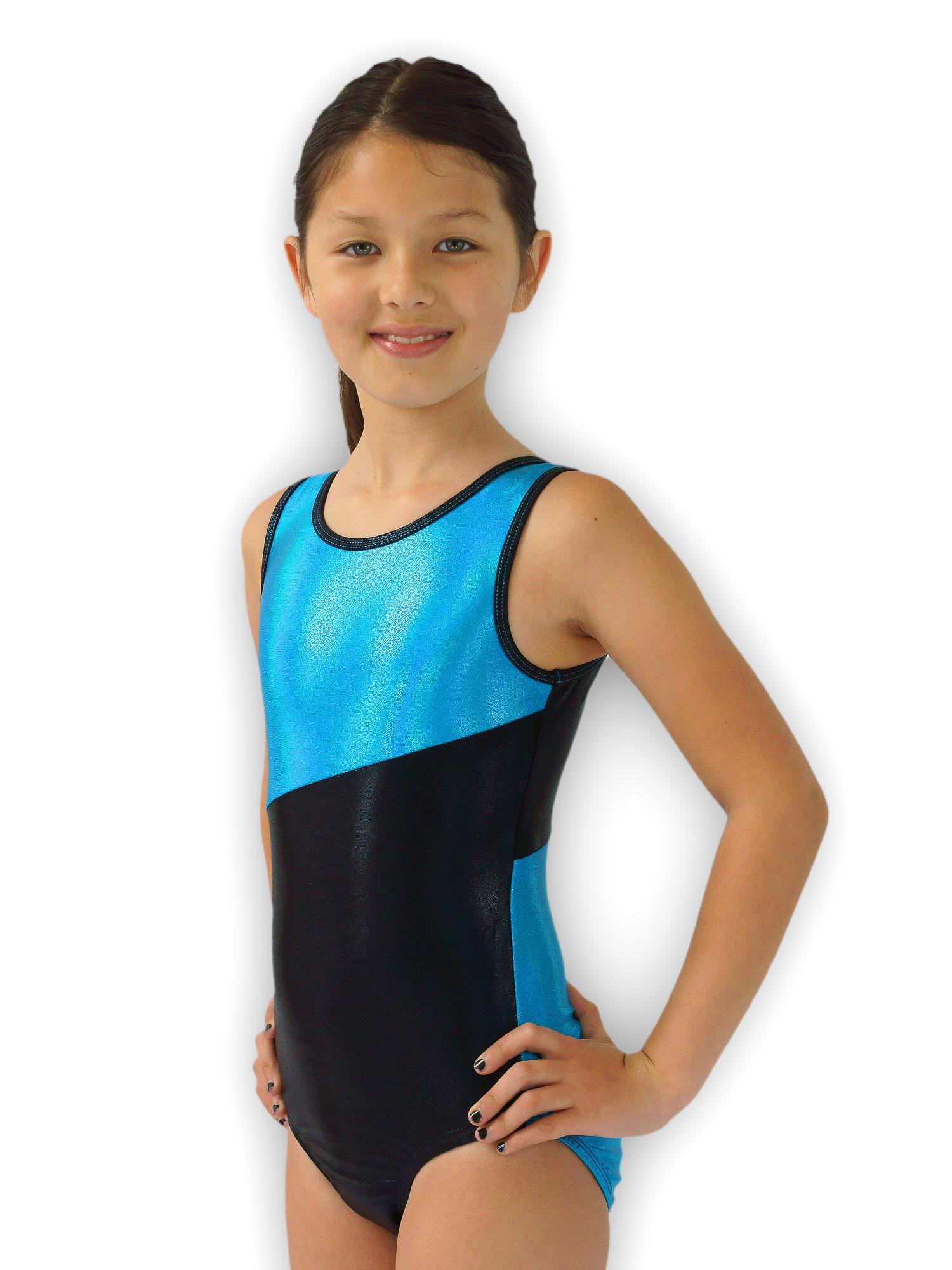 Gymnastics Leotard for Girls - Switch/Turquoise - Leap Gear by Pelle - 6 | Child Medium