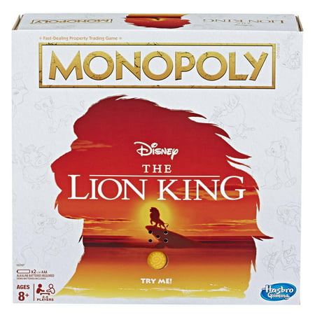 Monopoly Game Disney The Lion King Edition Family Board -