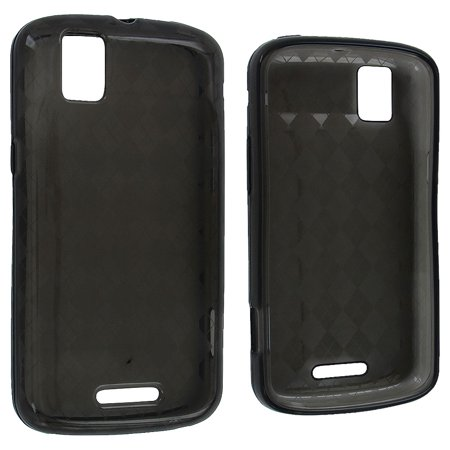 Smoke Checker - Smoke TPU Gummy Case Cover with Checker Design for Motorola Droid Pro A957
