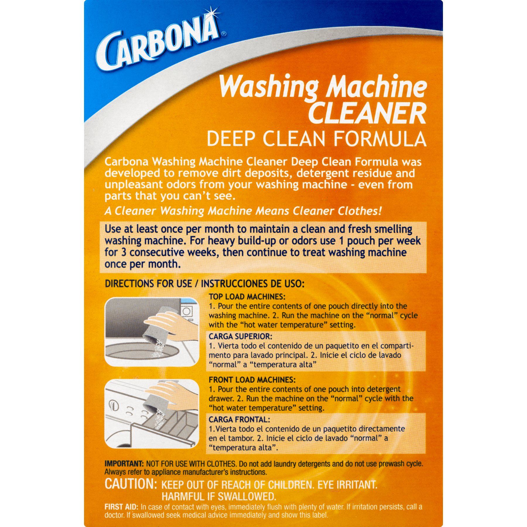 Carbona washing machine cleaner 3 count walmart falaconquin